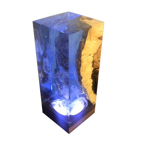This Handmade Ocean Cube Table Lamp Is Customizable by Arditi Collection