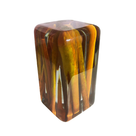 Customizable Orange Sticks Cube For Your Office Or Home by Arditi