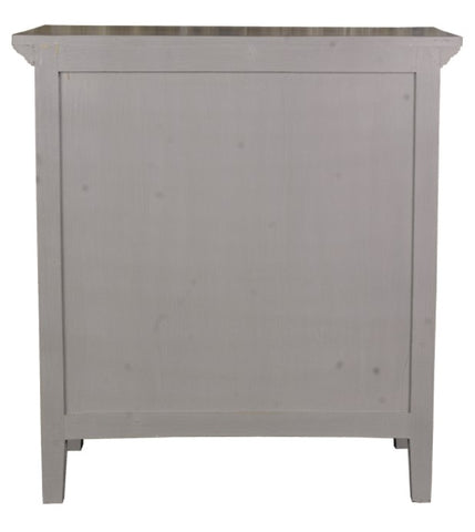 Antique Gray Shutter Cabinet by Sunset Trading Collection