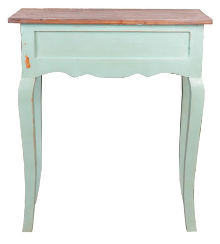 Traditional designed Table With Contemporary Turquoise Glaze by Sunset Trading Collection