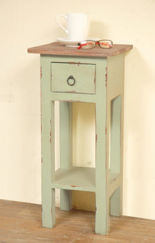 Recycled Narrow Side Table Has Farmhouse Charm by Sunset Trading Collection