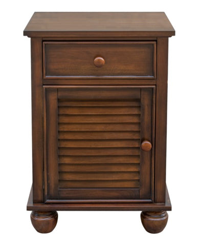 Acacia Wood Nightstand Is Hand Rubbed For A One-Of-A-Kind Look by Sunset Trading Collection