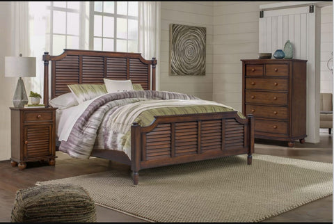 6-Drawer Acacia Chest Is Part Of A Full Bedroom Set by Sunset Trading Collection