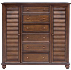 This Acacia Armoire Evokes A Coastal and Cottage Charm by Sunset Trading Collection