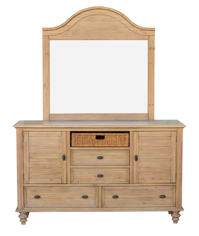 Romantic 5-Piece Queen Bedroom Set Made Of Acacia And New Zealand Pine Wood by Sunset Trading Collection