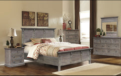 Contemporary 5-Piece Bedroom Set In Sustainable Grey Wash by Sunset Trading Collection