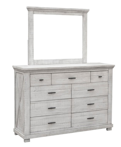 Hand-Distressed Bedroom Dresser and Mirror Set by Sunset Trading Collection