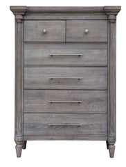 Solid American Oak 6-Drawer Bedroom Chest With Soft Closures by Sunset Trading Collection