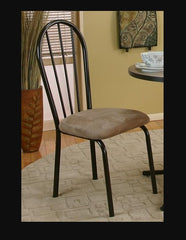 Pretty 3-Piece Linen Bistro Set Has A Formica Top For Easy Cleaning by Sunset Trading Collection