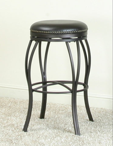 "30"" Backless Swivel Barstool Made Of Bonded Leather by Sunset Trading Collections"