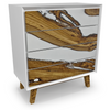 Image of Melanippe Olive Wood And Opaque White Dresser Is Spectacular In Every Way by Arditi Collection