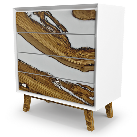 Melanippe Olive Wood And Opaque White Dresser Is Spectacular In Every Way by Arditi Collection