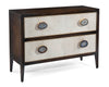 Image of Natural Agate Handles With Gold Leaf Trim Adorn This Black Windsor 2-Drawer Chest by John-Richard