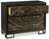 Image of Portoro Cerused 3-Drawer Chest In Taupe And Gold With Crystal Prism Pulls by John-Richard