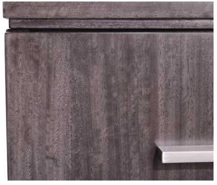 Grand Boulevard 2-Drawer Nightstand With Angular Fronts And Brushed Stainless Steel by John-Richard