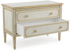 Image of Beluga Nightstand With 2-Drawers With Hand-Carvings Finished In Distressed Gold by John-Richard