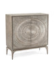 Image of Cosmos 2-Door Chest In Gray Oak With Center Pattern of Silver-White Radiation by John-Richard