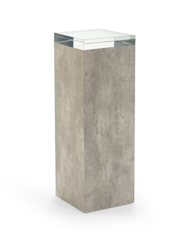 This Piazza Pedestal Makes A Statement In Your Home Completed With A Crystal Top by John-Richard