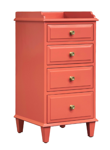 Eagle River 4-Drawer Bedside Chest Finished in Your Choice Of Benjamin Moore or Sherwin-Williams Paint Colors by SB NOW