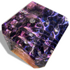 "Image of Heavenly ""Dream Space"" Cube Is Made Of Clear Amethyst Epoxy Resin And Wood by Arditi Collection"