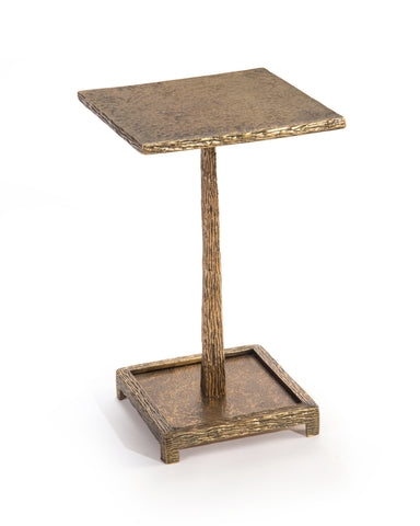 Martini Table In Textured Antique Brass by John-Richard