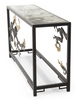 Image of Organically Sculpted Console Table In Antique Brass, Gold Leaf And Glass by John-Richard