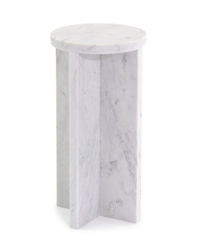 Martini Table In Solid White Carrara Marble By John-Richard