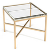 Image of The Ultimate Bunching Table With Clear Double-Glass Block Top And Gold Base by John-Richard