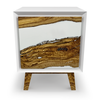 Image of Nephele Olive Wood Minimal White Cabinet by Arditi Collection