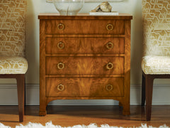 Biedermeier 4-Drawer Chest In Walnut Burl With Natural Wood Grain by Modern History Home