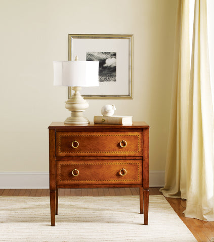 Fruitwood Chest With Two Dovetailed Drawers and Hand-Rubbed Finish by Modern History Home