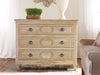 Image of Weathered Oak Chest With Detailed Carvings, 3 Drawers With Interior Oak Wood-Stain by Modern History Home