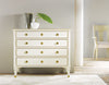 Image of 4-Drawer Solid Wood Chest in Three Colors: Ebony, Cream, Burl by Modern History Home
