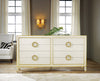 Image of 8-Drawer Solid Wood Double Dresser in Cream/Gold, Antique Grey/Gold by Modern History Home