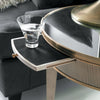 Image of Tuxedo End Table With Antique Mirror Glass, Solid Brass Banding by Modern History Home