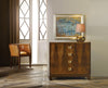 Image of French 4-Drawer Bachelor Chest In Walnut Or White w/Gold Leaf Hardware by Modern History Home