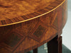 Image of Marquetry Half-Round Console Table With Intricate Walnut, Rosewood and Maple Veneer Diamond Inlays by Modern History Home