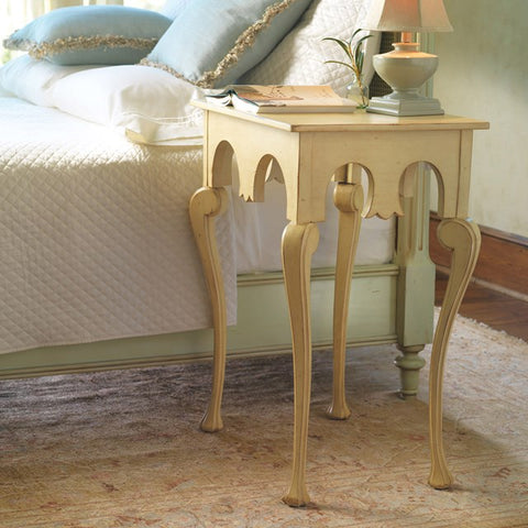 Ornate Mendicino Nightstand Shown In Butter Pecan by Somerset Bay