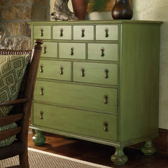 11-Drawer Buckhead Hand Distressed Chest in Jelly Bean Green by Somerset Bay