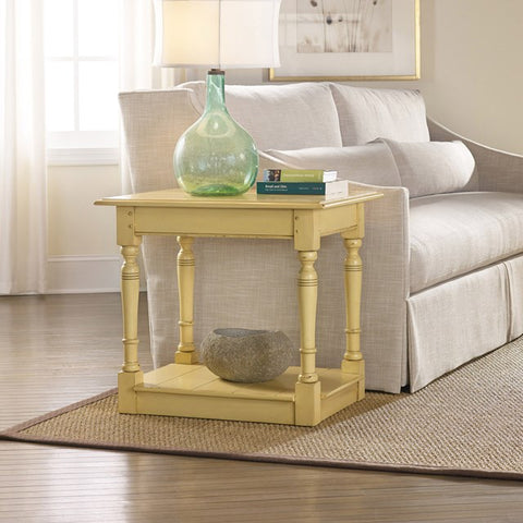 Sanibel Mahogany End Table Shown in Distressed Creme Brulee' by Somerset Bay
