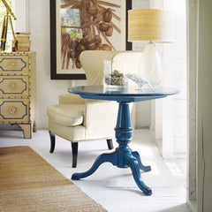 Cape Neddick End Table Shown in Distressed Blueberry Crisp by Somerset Bay