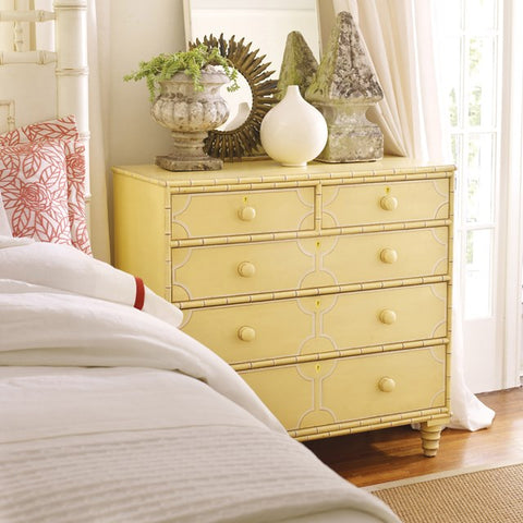 Islamorada 5-Drawer Chest With Dovetailed Joinery Shown in Creme Brulee' by Somerset  Bay
