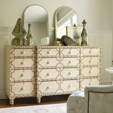 Marathon 12-Drawer Dresser Shown In Vanilla Bean/Cocoa Combination by Somerset Bay
