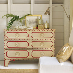 Big Pine Key Chest In Butter Pecan With Cherry Cobbler Detailing by Somerset Bay