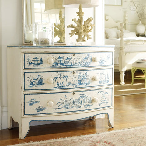 Topsail Bowfront Chest With Three Solid Hardwood Drawers by Somerset Bay