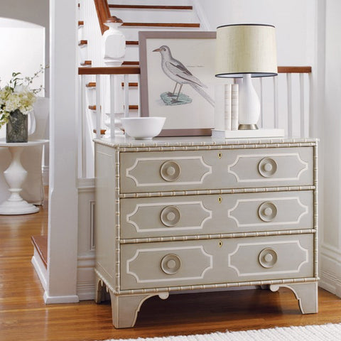 Little Pine Key Chest Features Three Drawers and Hand Distressed Finish by Somerset Bay