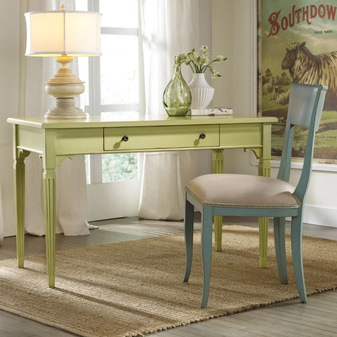 Marshville Writing Desk With Dentil Carvings Shown in Distressed Key Lime Pie Finish by Somerset Bay