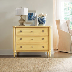 Avingnon Hand Distressed Painted 3-Drawer Chest With Brass Knobs by Somerset Bay