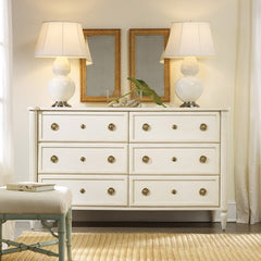 6-Drawer La Rochelle Double Dresser in Vanilla Bean by Somerset Bay