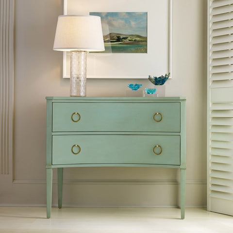 2-Drawer Concave Side Chest Shown in Distressed Pistachio Whip Finish by Somerset Bay